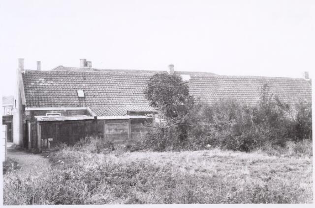 017521 - Achterzijde van de panden Diepenstraat 78 tot en met 82 eind 1962