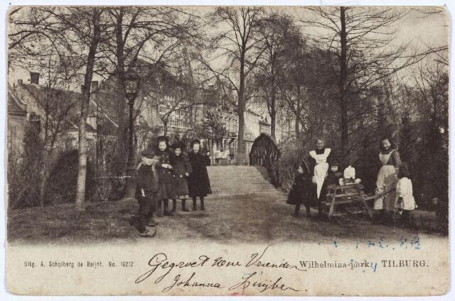 002953 - Bruggetje in het Wilhelminapark.