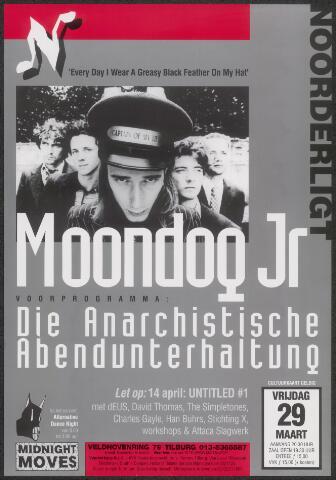 650327 - Noorderligt. Moondog Jr. Support act: Die Anarchistische Abendunterhaltung