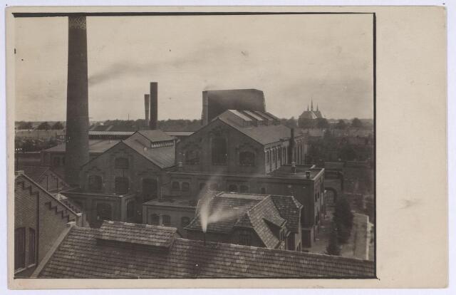 025161 - Gedeelte van het complex van de gasfabriek aan de Lange Nieuwstraat in 1926