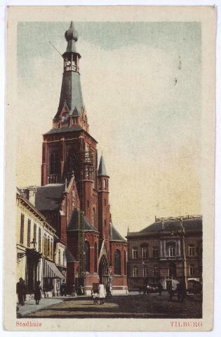 001869 - Oude Markt voorheen de Markt met kerk en gemeentehuis.