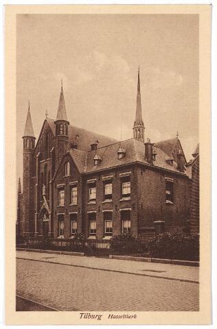 000707 - Hasseltstraat, pastorie en kerk van O.L.V. van de H. Rozenkrans.