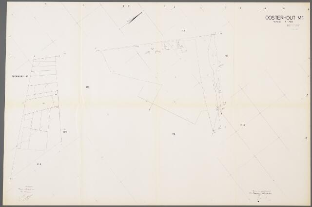 104977 - Kadasterkaart. Kadasterkaart / Netplan Oosterhout. Sectie M1. Schaal 1: 2.500.