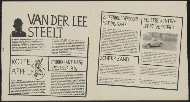 668_1980_056 - Muurkrant: Van der Lee steelt