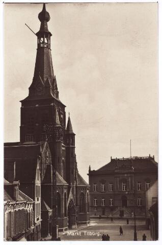 001883 - Oude Markt voorheen Markt met kerk van het Heike en voormalig gemeentehuis.