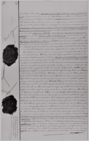 040615 - Akte notaris A.A.M. van Eijl, 1906. Opgemaakt in het Koffiehuis Tramstation op de Veldhoven van Hendrik Sebregts.