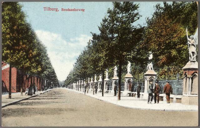 010363 - Bredaseweg met beeldengalerij rondom het kerkhof.