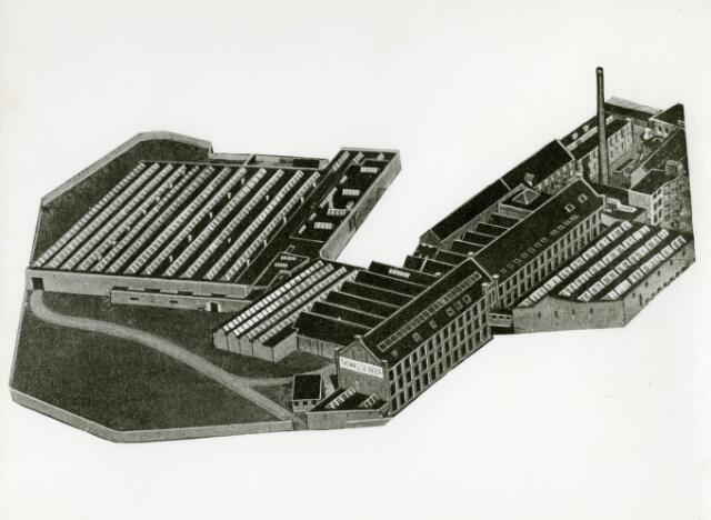 071689 - Het complex wollenstoffenfabriek Thomas de Beer aan het Wilhelminapark.