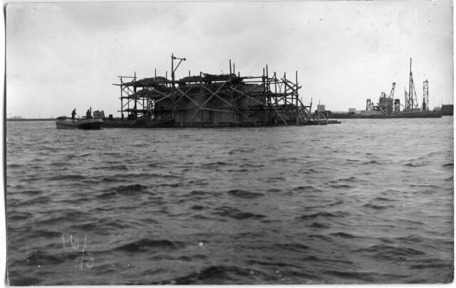 604822 - Aanleg van de brug bij Keizersveer