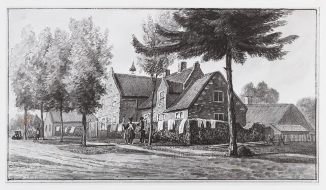056584 - Tekening door Daniël Gevers van Endegeest in Atlas van Stolk. Pastorie te Riel