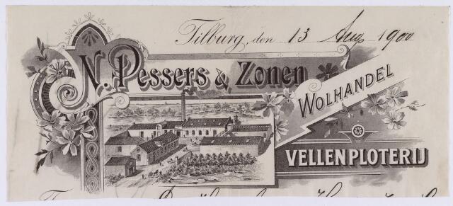 060902 - Briefhoofd. Briefhoofd van N. Pessers & Zonen, Wolhandel en vellenploterij