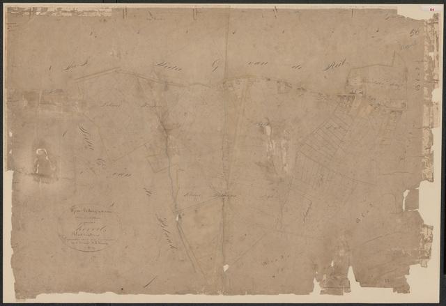 652587 - Kadasterkaart Tilburg, Sectie D (Korvel), blad 1. Schaal 1:2500. z.j.