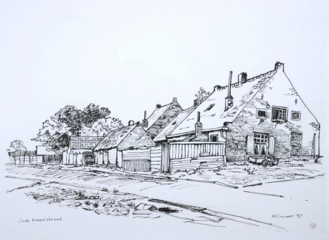 027622 - Tekening. Tekening Oude Kapelstraat 17.Door H.Corvers.
