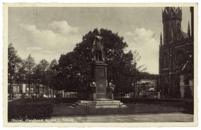 001001 -  Heuvel standbeeld Willem II en lindeboom.