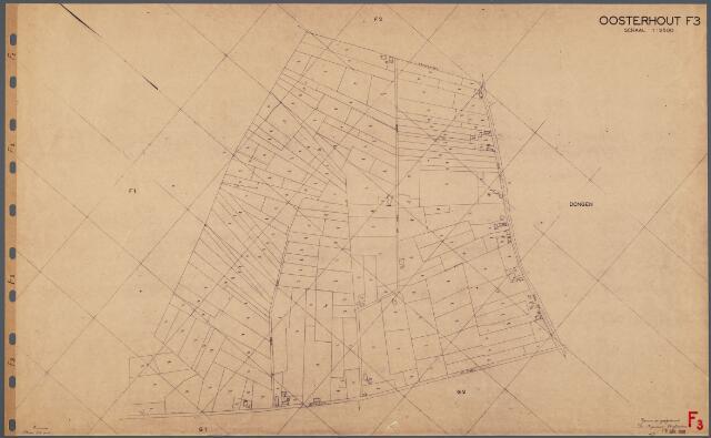 104742 - Kadasterkaart. Kadasterkaart Oosterhout Sectie F3, Schaal 1: 2.500