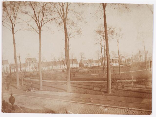 035100 - Aanleg van het Wilhelminapark gezien vanuit de Gasthuisstraat