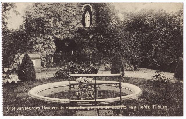 001761 - Oude Dijk, Lourdesgrot in de tuin van het moederhuis van de Congregatie der Zusters van Liefde van O.L.V. Moeder van Barmhartigheid.