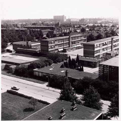 036584 - Panorama van Tilburg vanaf de flat aan de Postelsehoeflaan