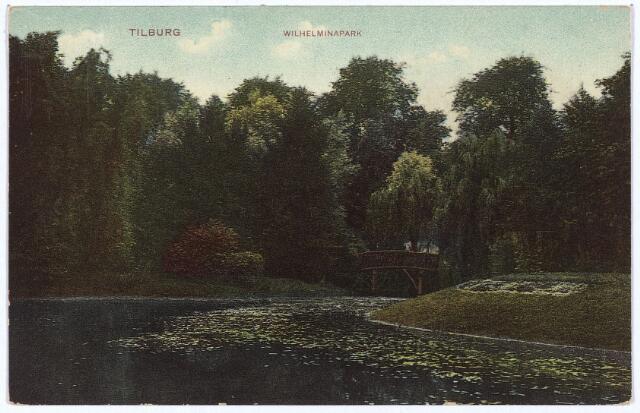 002930 - Wilhelminapark, vijver en brug.