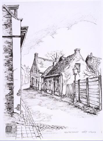 022778 - Tekening. Tekening van H. Corvers van de Houtstraat.