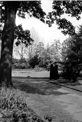055007 - Fraters in de kloostertuin.