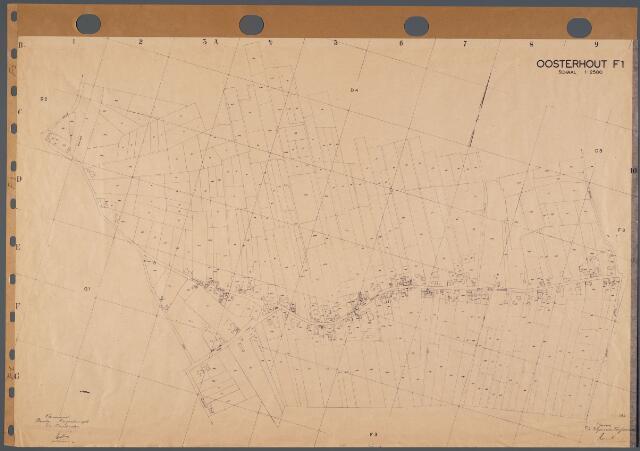 104730 - Kadasterkaart. Kadasterkaart Oosterhout Sectie F1, Schaal 1: 2.500
