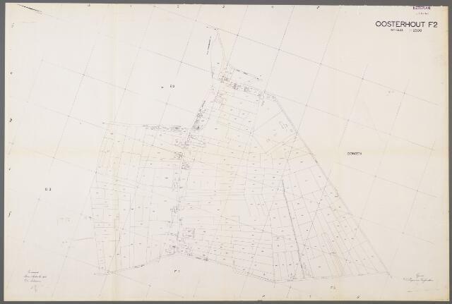 105009 - Kadasterkaart. Kadasterkaart Netplan Oosterhout Sectie F2, Schaal 1 : 2.500