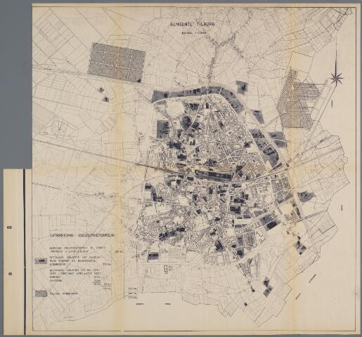059425 - Kaart. Stadsuitbreiding. Bestemmingsplan in Hoofdzaak, herziening 1953, uitbreiding industrieterreinen