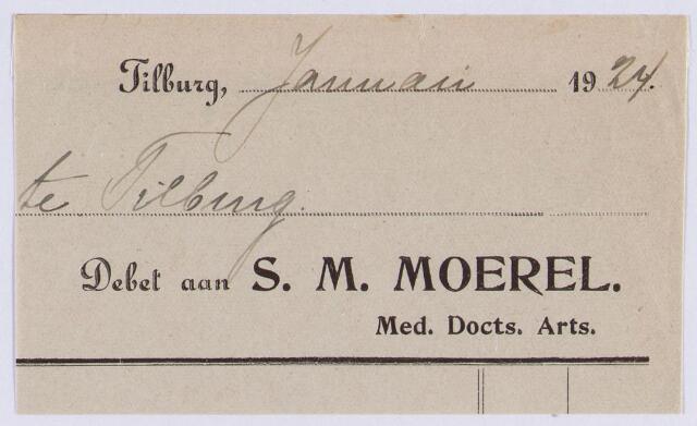 060755 - Briefhoofd. Briefhoofd van S.M. Moerel. arts