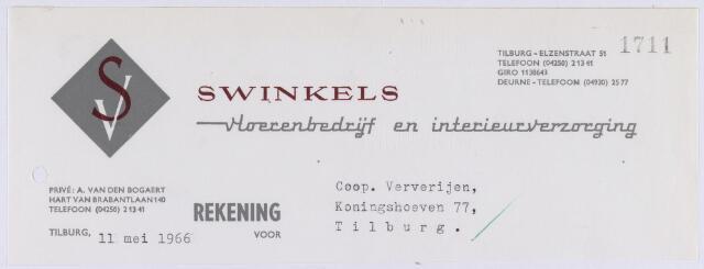 061206 - Briefhoofd. Briefhoofd van Swinkels Vloerenbedrijf en Interieurverzorging N.V., Noordstraat 72a