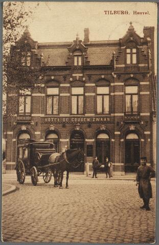 010243 - Hotel de Gouden Zwaan van H.B. Hegeman aan de zuidzijde van de Heuvel, later de Hema.
