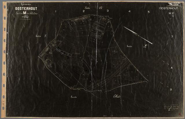 104829 - Kadasterkaart. Kadasterkaart Gemeenteplan 1954 Oosterhout Sectie M2, Schaal 1 : 2.500