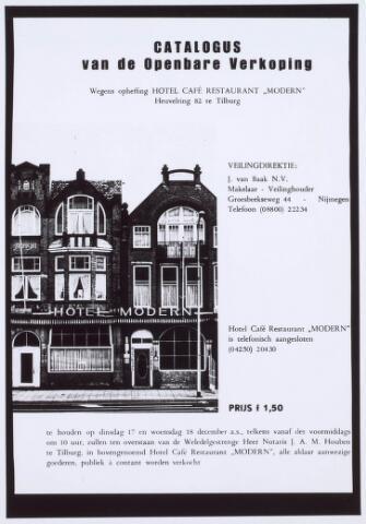 020822 - Catalogus van de openbare veiling van de inboedel van hotel Modern. Het pand werd gekocht door de Amro-bank die de grond nodig had voor nieuwbouw (nu hoek Heuvel - Spoorlaan)