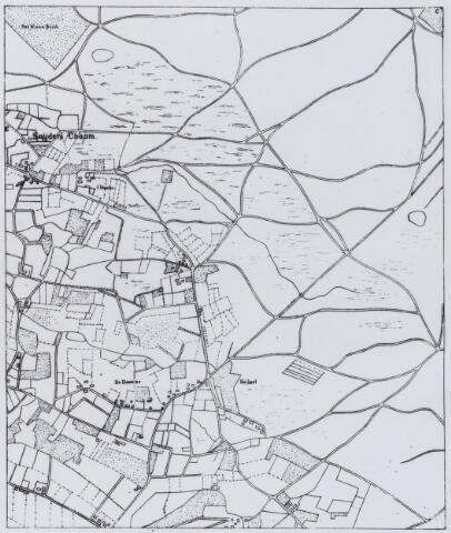 049188 - Kaart. Het gebied tussen Chaam en Alphen.