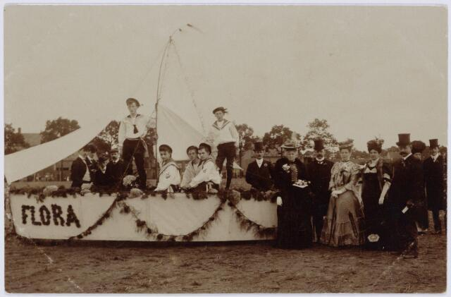 103841 - Tentoonstelling Stad Tilburg 1909 gehouden van 15 juli - 8 augustus 1909  Handel Nijverheid en Kunst. Het tentoonstelling-terrein was gelegen aan de 1e Herstalse Dwarsstraat (tussen Boomstraat en Industriestraat).