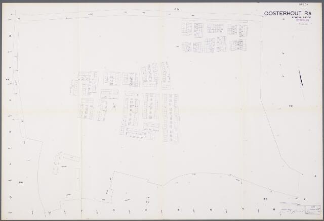 104923 - Kadasterkaart. Kadasterkaart / Netplan Oosterhout. Sectie R5. Schaal 1: 1000.