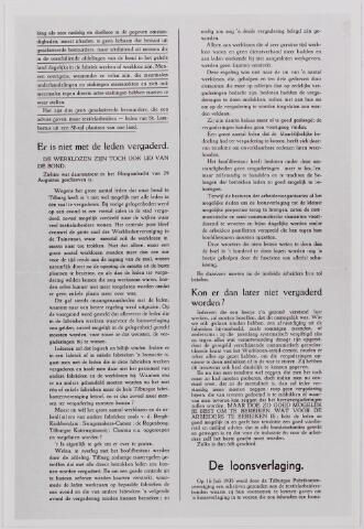 040886 - Textielstaking 1935. Pamfletten, Annonces, mededelingen in de Fakkel het orgaan van het nationaal arbeidssecretariaat, de textielarbeidersbond, de vereniging van Textielfabriekanten, inzake de staking van textielarbeiders op 13 september 1935.