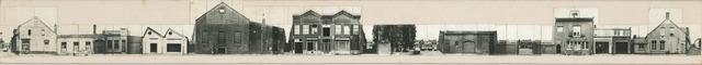 1625_0275 - Fotostrook; straatwand; panden aan de linten en hoofdverbindingswegen in het centrum van de stad; oost gehele straat (even nrs) / Telexstraat even nrs