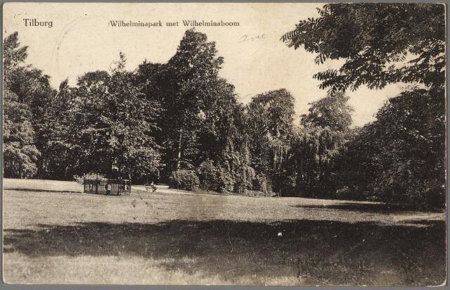 010181 - Wilhelminapark met links de Wilhelminaboom.