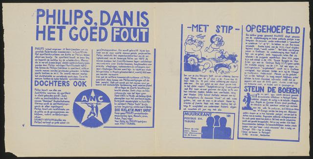 668_1985_181 - Muurkrant: Philips dan is het goed fout