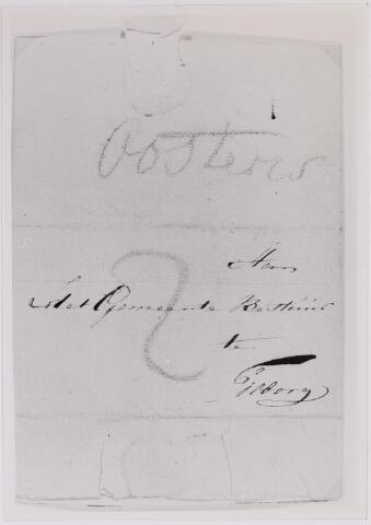 041636 - Postbrieven. Envelop van een brief van Oisterwijk gericht aan het Gemeentebestuur van Tilburg.