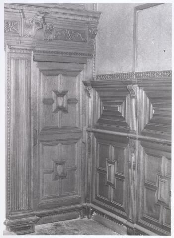 017916 - Deel van het interieur van hofstede De Blaak (jachtkamer)