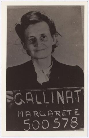 013742 - Tweede Wereldoorlog. Margarete Gallinat, bewaakster in kamp Vught