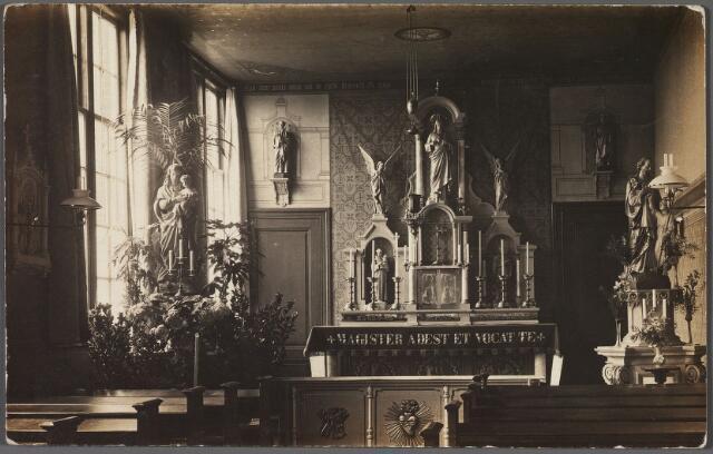 010845 - Interieur kapel klooster van de fraters aan de Capucijnenstraat.