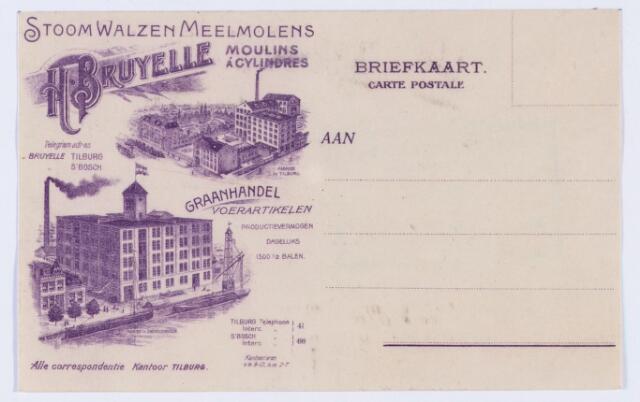 059802 - Briefhoofd. Briefhoofd van Stoom Walzen Meelmolen Moulin a Cylinders H. Bruyelle, Graanhandel en Voerartikelen