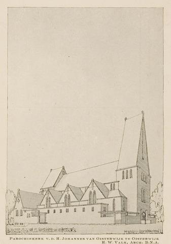 074484 - De Lind. R.K. Kerk St. Joannes, gebouwd in 1928 zonder toren, uitgebreid en afgebouwd met toren 1953.
