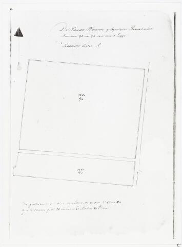 007047 - Kaart. Kadasterkaartje van De Nieuwe Warande gelegen in de Rauwbraken.