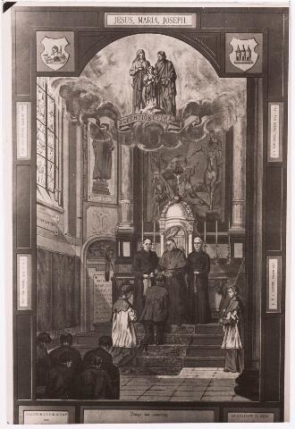 035891 - Interieur van de R.K. kerk van de H. Dionysius op het Heike, thans Stadhuisplein