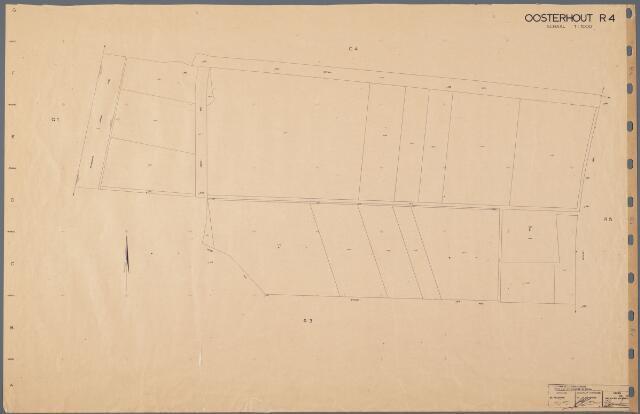 104889 - Kadasterkaart. Kadasterkaart Oosterhout Sectie R4, Schaal 1 : 1.000