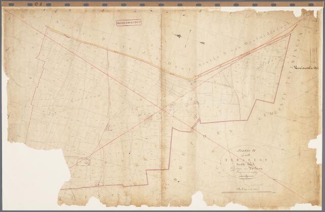 104857 - Kadasterkaart. Kadasterkaart Oosterhout Sectie O2, Schaal 1 : 2.500, genaamd Teraalst